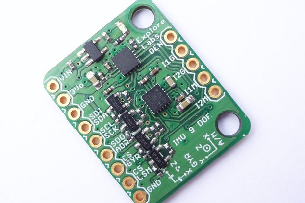 9 DOF IMU L3GD20H + LSM303 Breakout Board 5V Ready