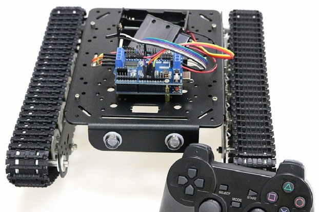 Shock Absorber Smart Robot Tank by PS2 Control Kit