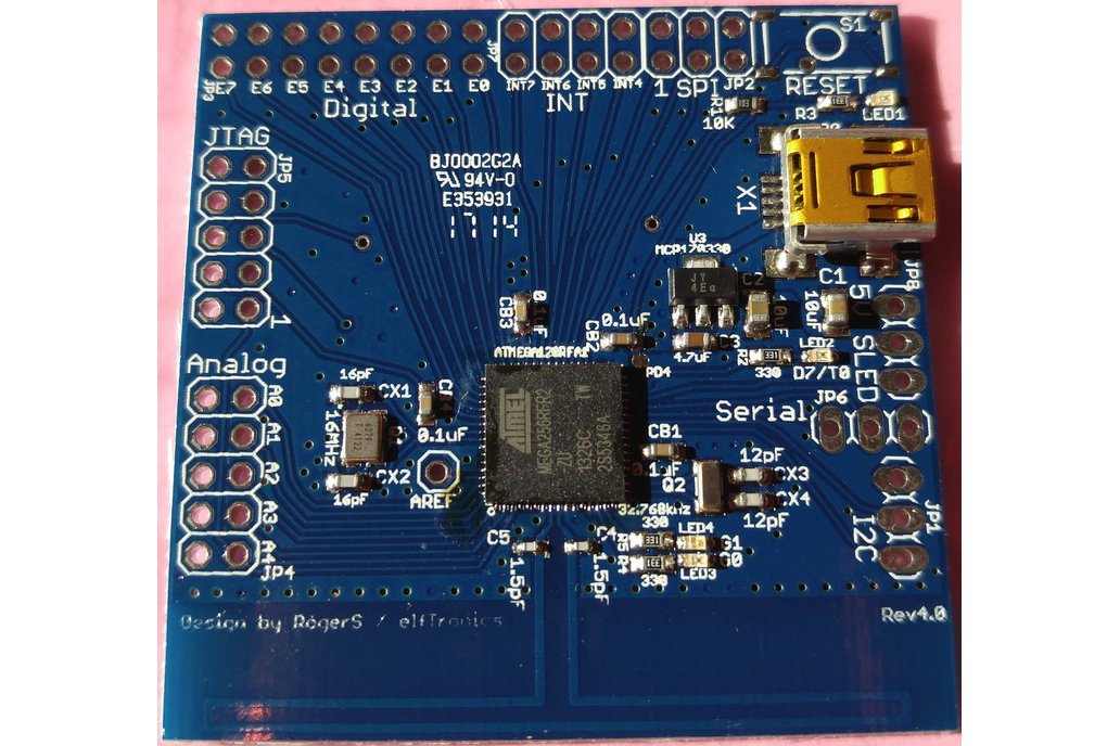 ATMega256RFR2 Breakout Board for 802.15.4 Wireless 1