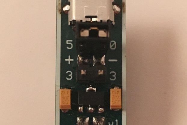 Micro USB to 5.0V *OR* 3.3V for Breadboard