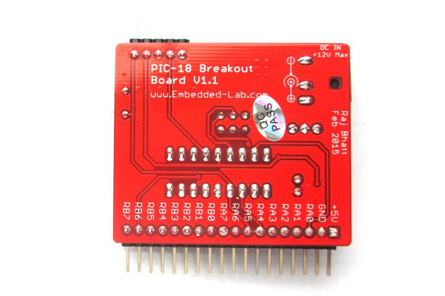Breakout board for PIC16F628A/ PIC16F1847
