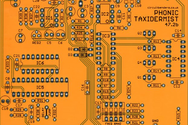 PHONIC TAXIDERMIST 47.2b: Voice Vandal clone PCB