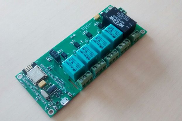 Node MCU ESP32 WIFI board 4 Relay iot with casee