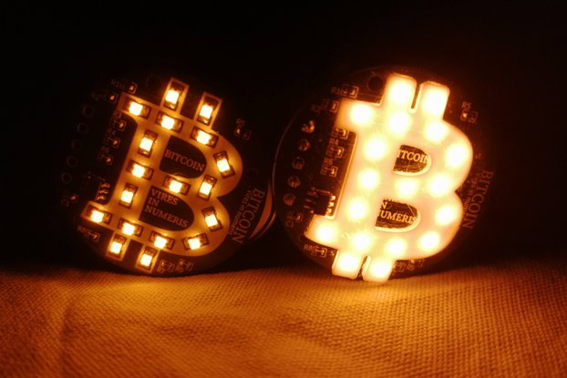 Bitcoin Led Badge