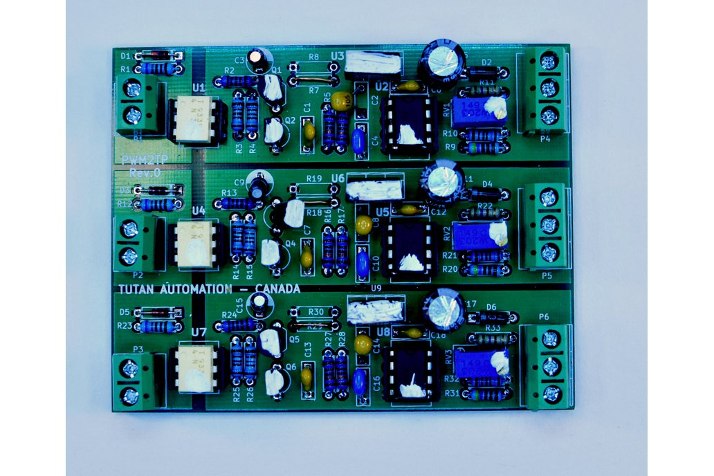 Isolated 3 channel PWM to Analog Converter 3