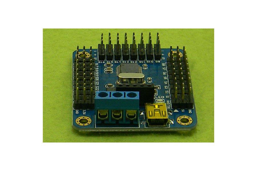 Mini USB 16 path servo motor control board