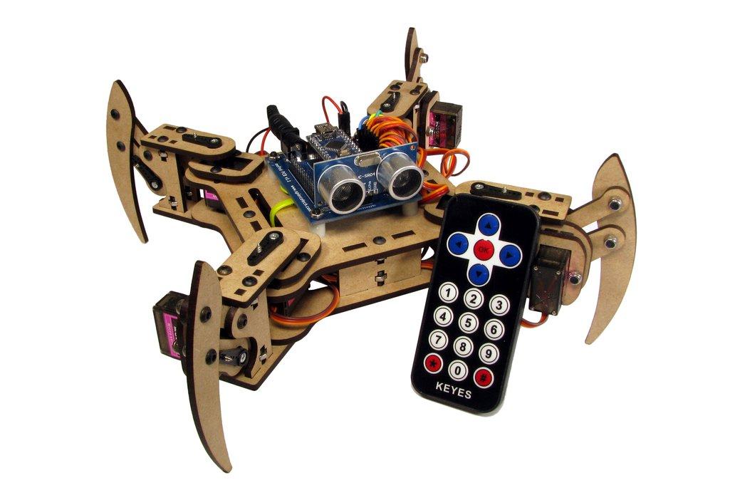mePed v2 Quadruped Walking Robot - Complete Kit 1