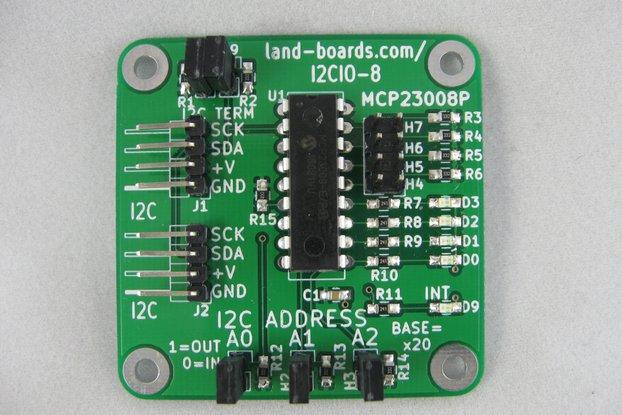 I2C Demo Board MCP23008 (I2CIO-8)