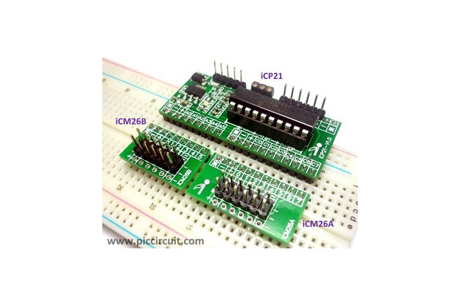 iCP21- Microchip 8, 14 & 20 pins PIC16  IO Board