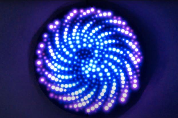 Fibonacci512 - 320mm disc with 512 WS2812B RGB LED
