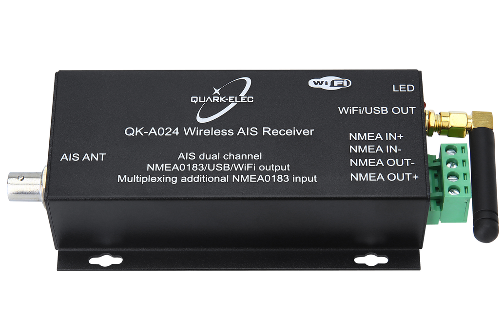 QK-A024-AIS Receiver, dual channel with WiFi 2