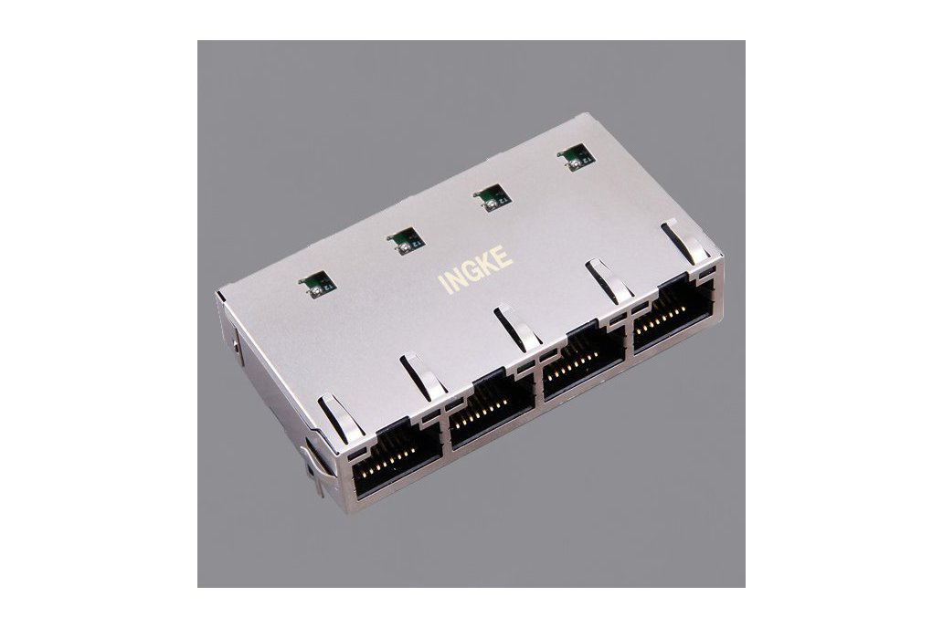 JT6-1473NL 1x4 Ports 10G Base-T RJ45 Magjack 1