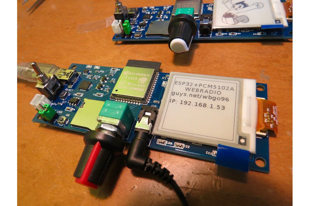 ePaper plus ESP32-ADB 4