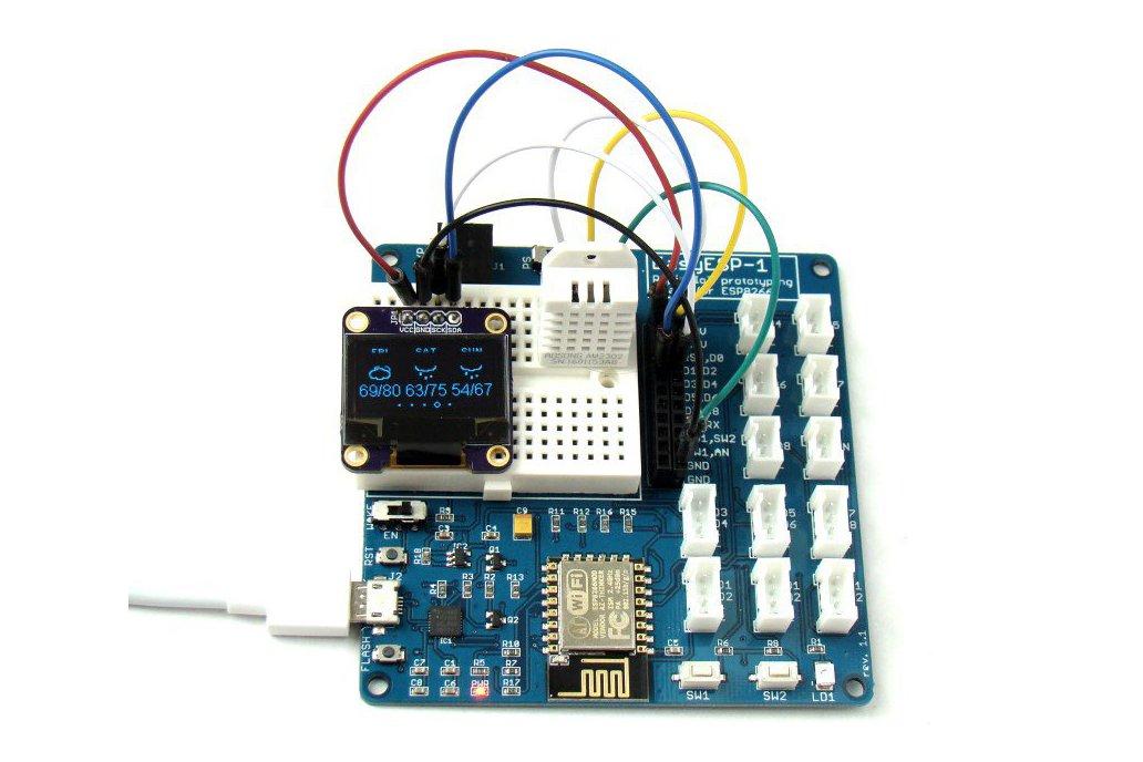EasyESP-1: A rapid development board for ESP8266 1