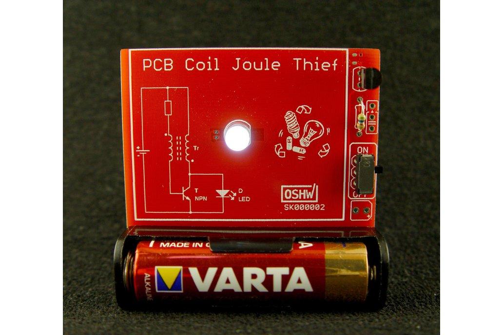 PCB coil joule thief 1