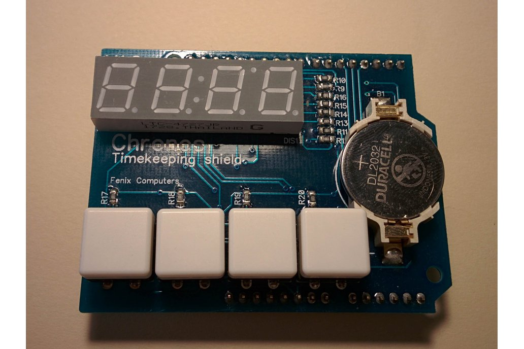 Chronos - the timekeeping shield for Arduino 1
