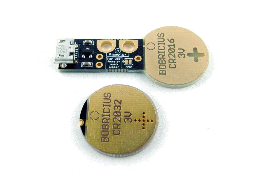 Coin cell battery emulator CR2016/CR2032 1