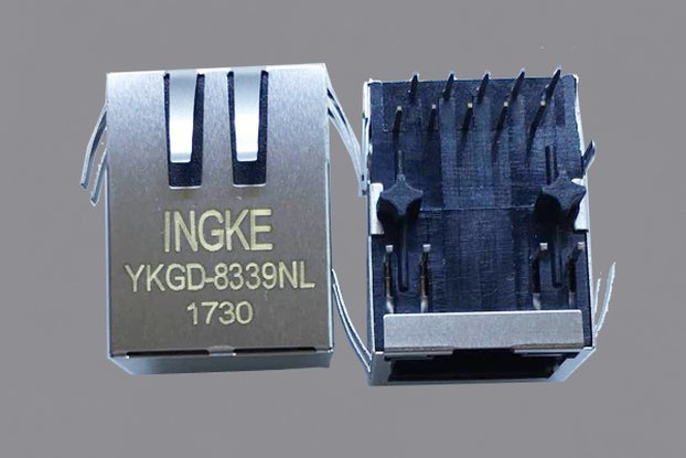 YKGD-8339NL 1000  Tab Down RJ45 Ethernet Connector