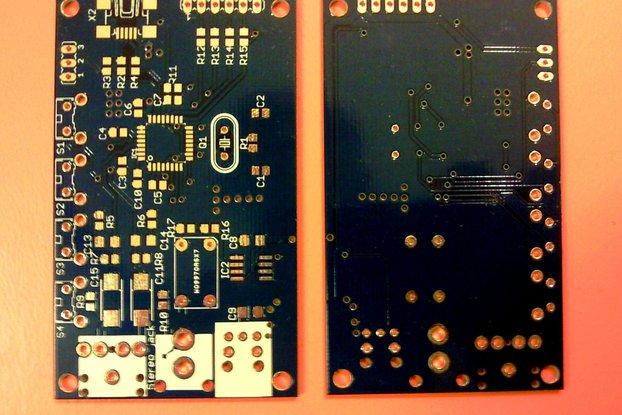 Bare PCB for DIY USB sound card based on PCM2706