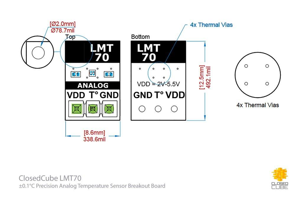 LMT70  ±0.1°C Precision Analog Temperature Sensor 5