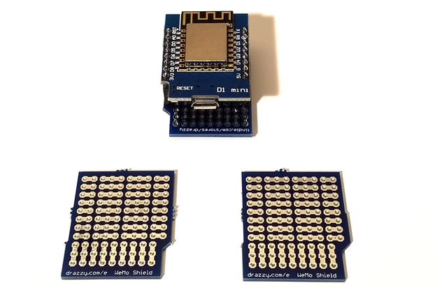 Prototyping Shield for WeMos D1 Mini (3/pk)