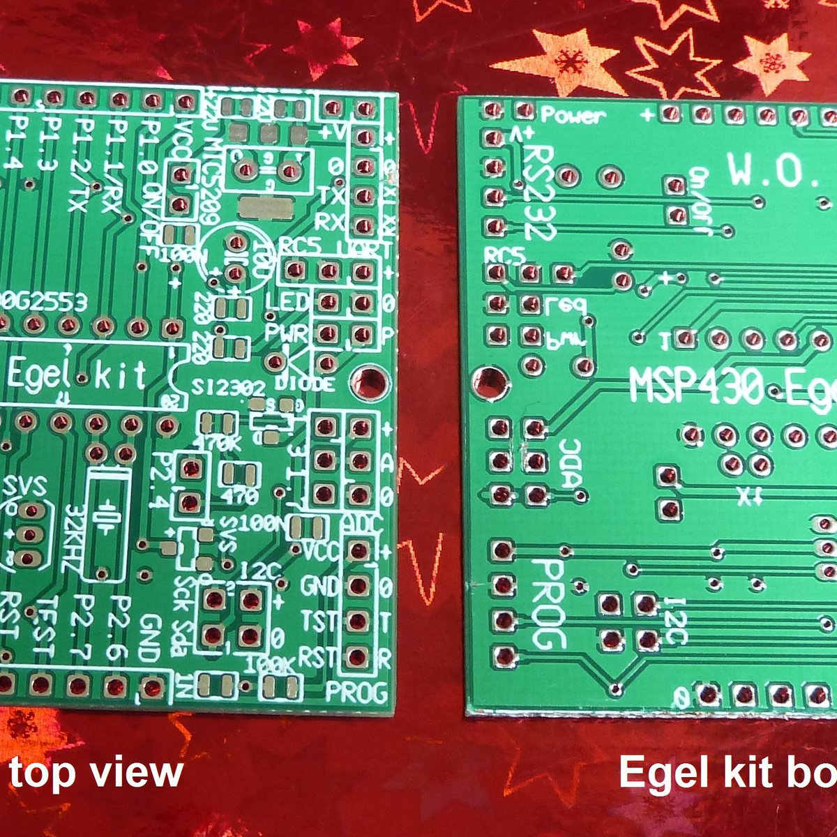 Egel kit board set for MSP430G2553 (no parts!) from