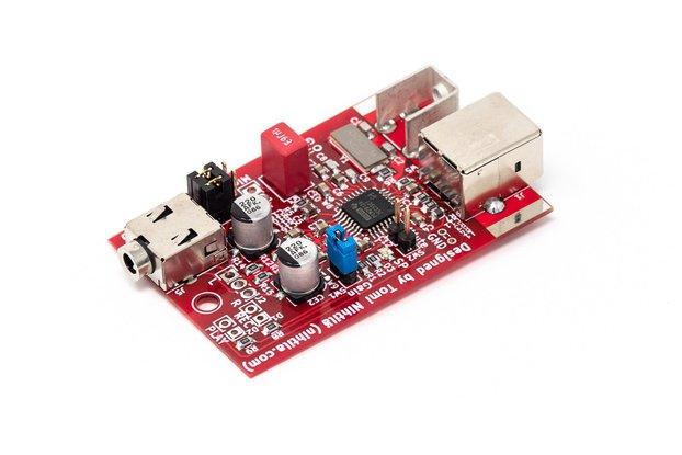 USBHI – Compact USB headset interface (ADC/DAC)