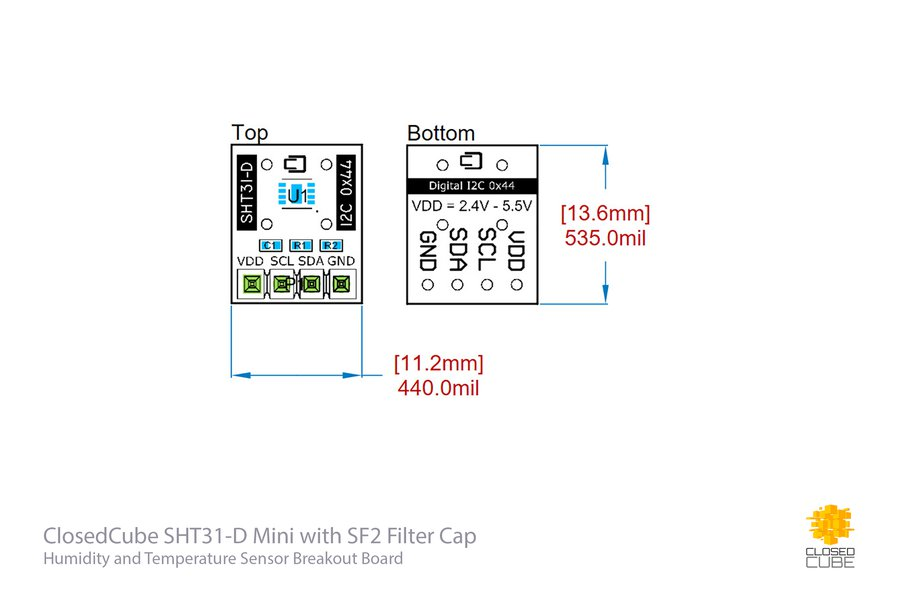 4x SHT31-D with Filter Cap and I2C Switch Bundle