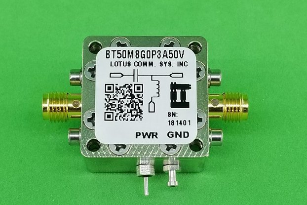 Bias Tee Broadband 50 MHz to 8.2 GHz (Max. 300mA 5