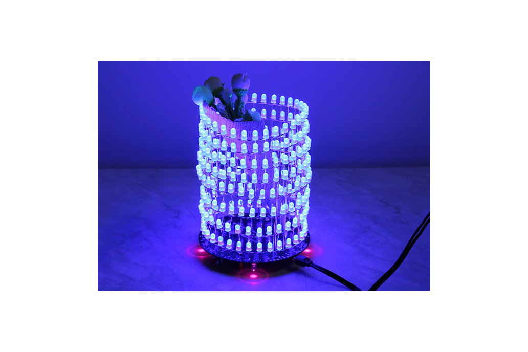 Blue 3D Light Cube w/ Music Spectrum(12542) 1