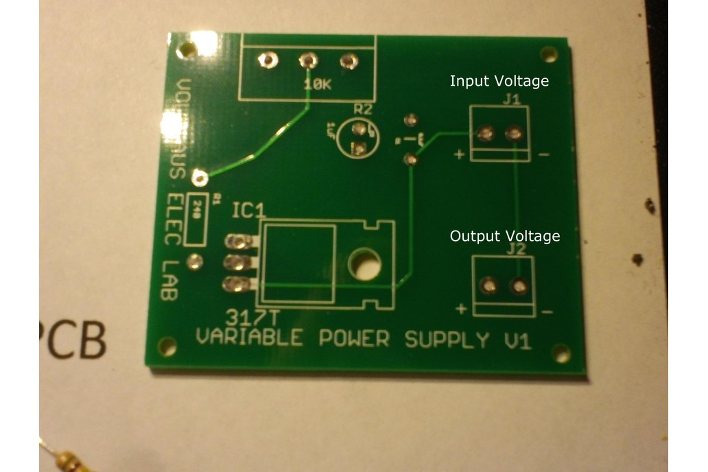 LM317T Variable Power Supply Kit 3