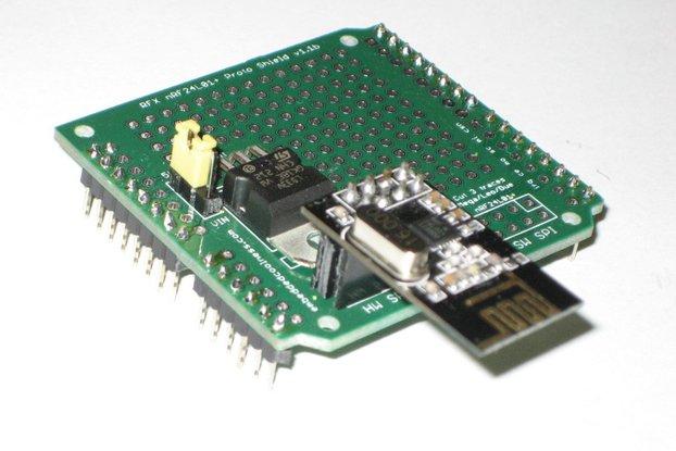 RFX nRF24L01+ Proto Shield (Kit)