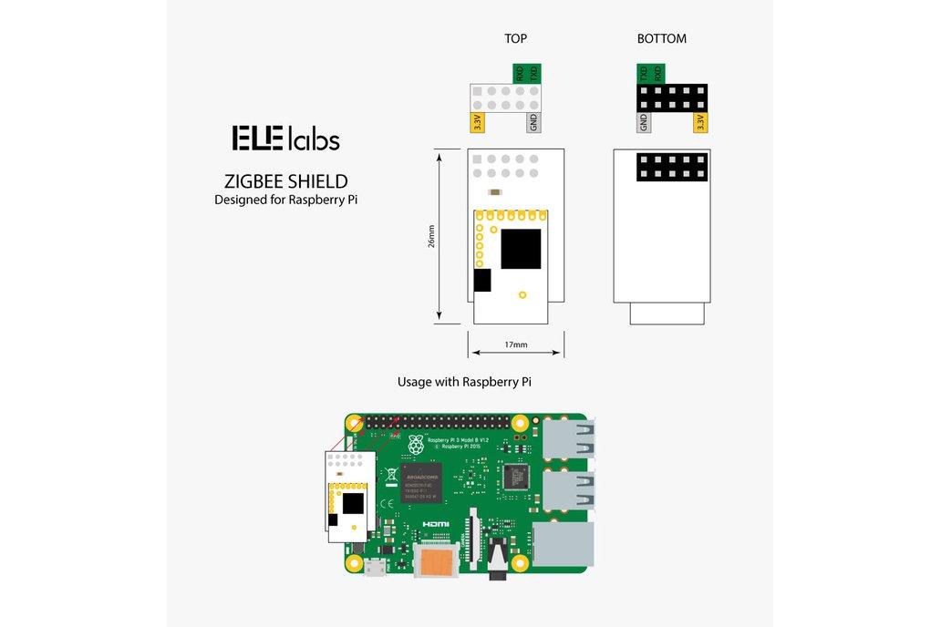 Elelabs ZigBee Raspberry Pi Shield 3