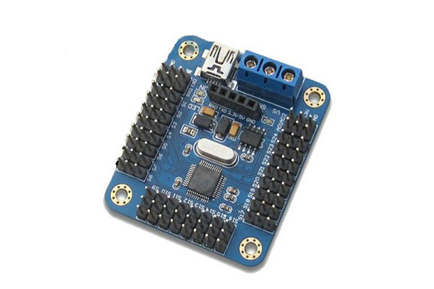 Mini USB 16 path servo motor control board