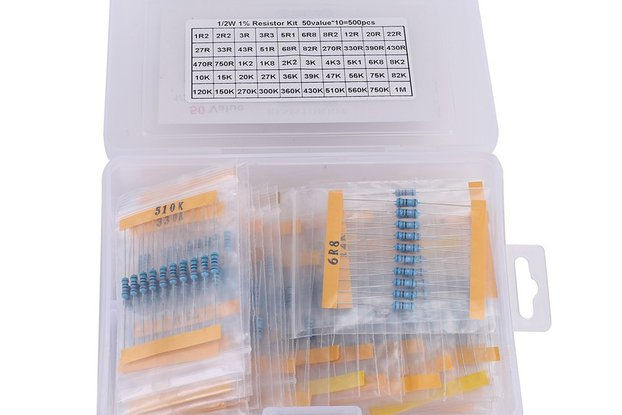 50 Values Metal Film Resistor Kits_GY18609
