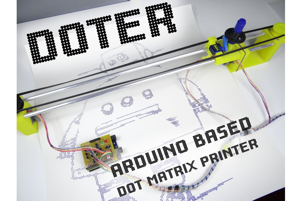 Dotter PCB for Arduino Based Dot Matrix Printer 2