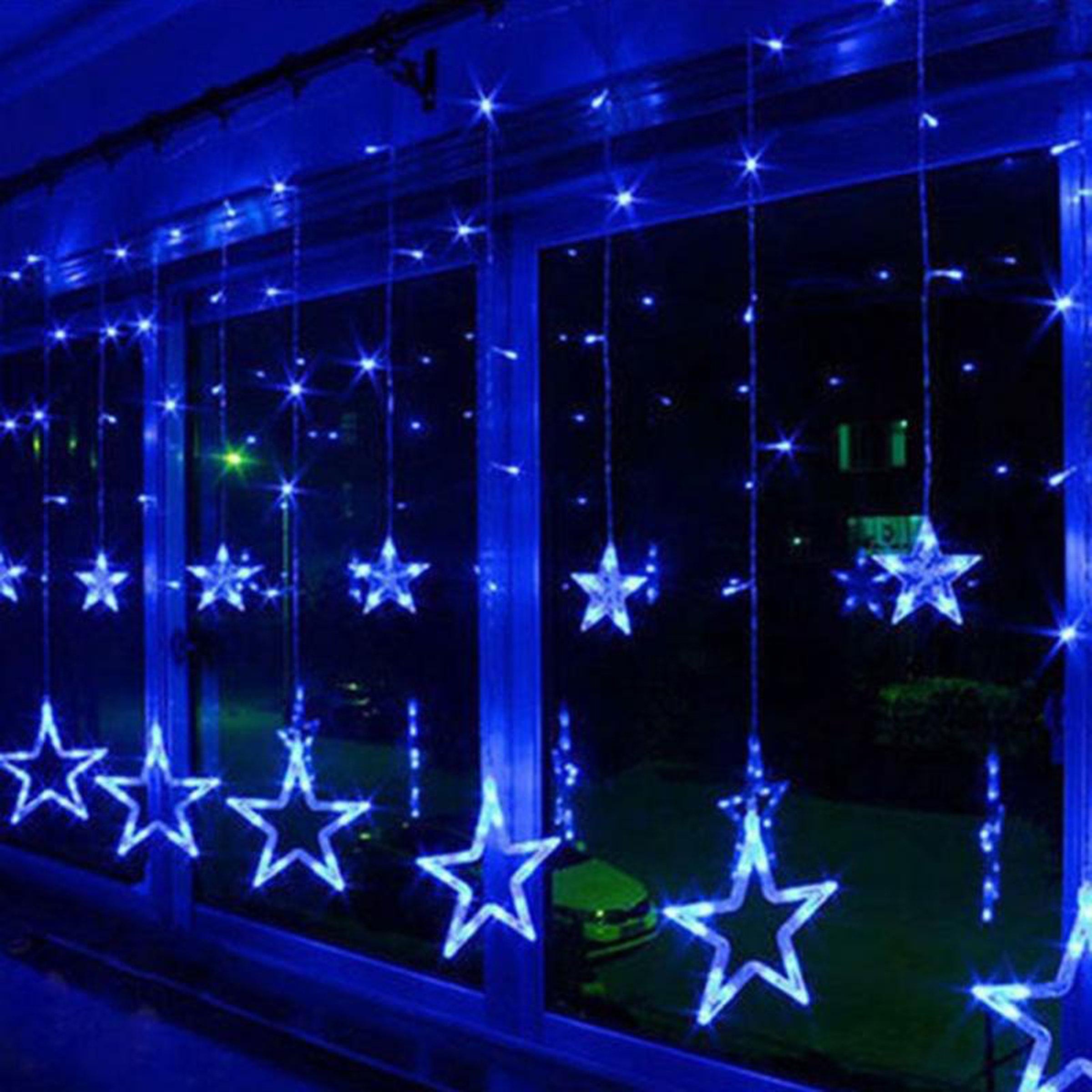 christmas lights fairy star led curtain string 10