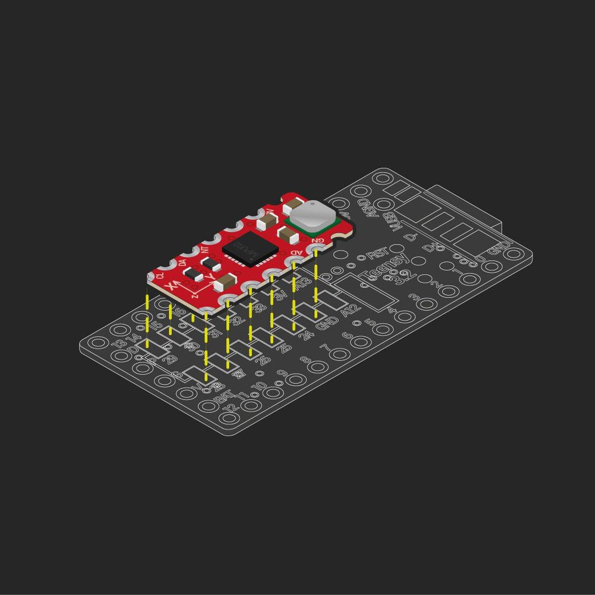 10DOF MPU9250+MS5637 sensor addon, Teensy 3 0-3 2 from