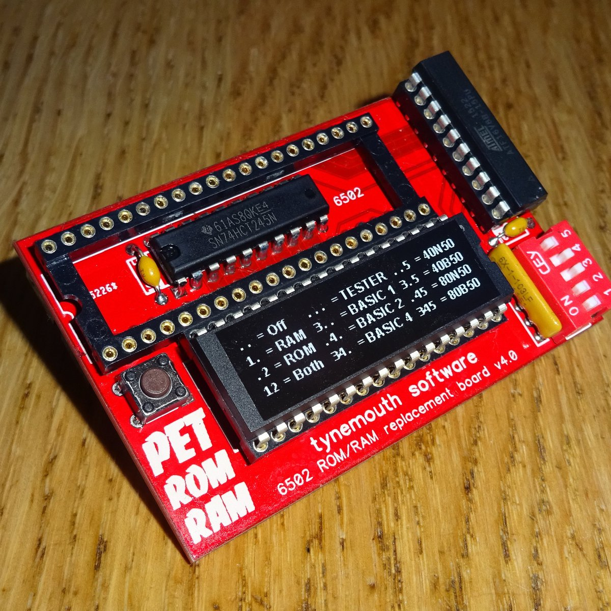 ROM/RAM replacement board for Commodore PET from Tynemouth Software