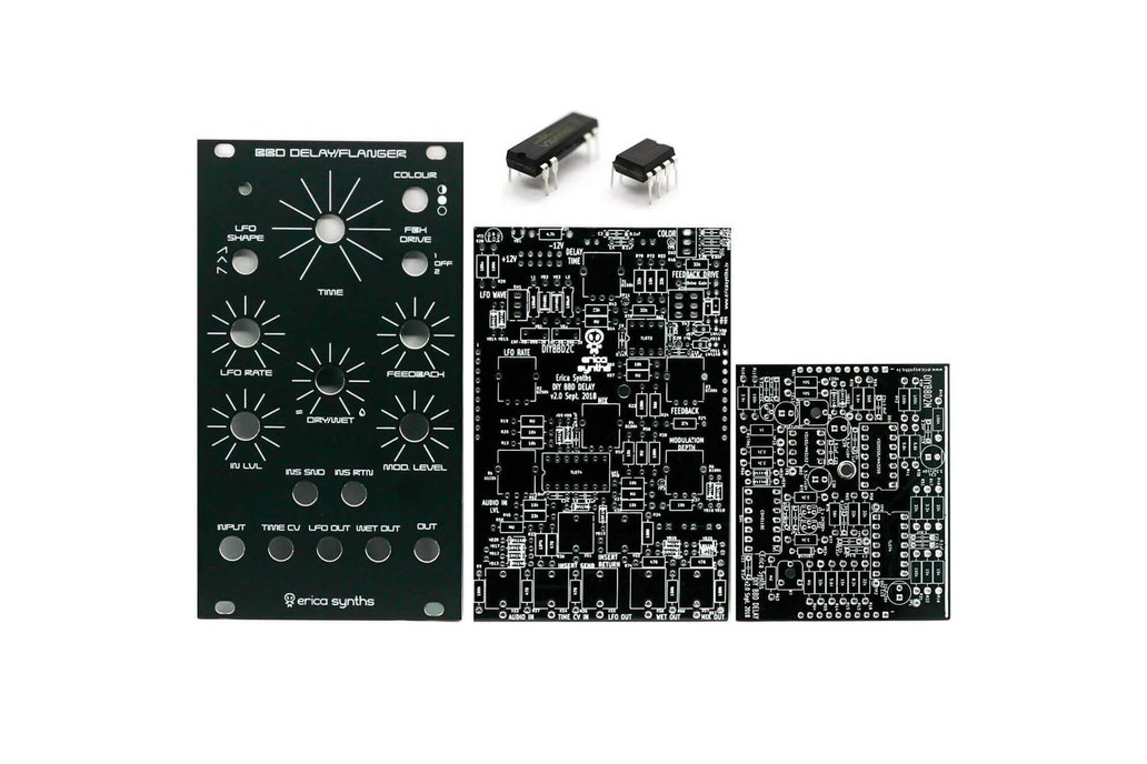 Erica Synths BBD Delay/Flanger PCBs, Panel and ICs 1