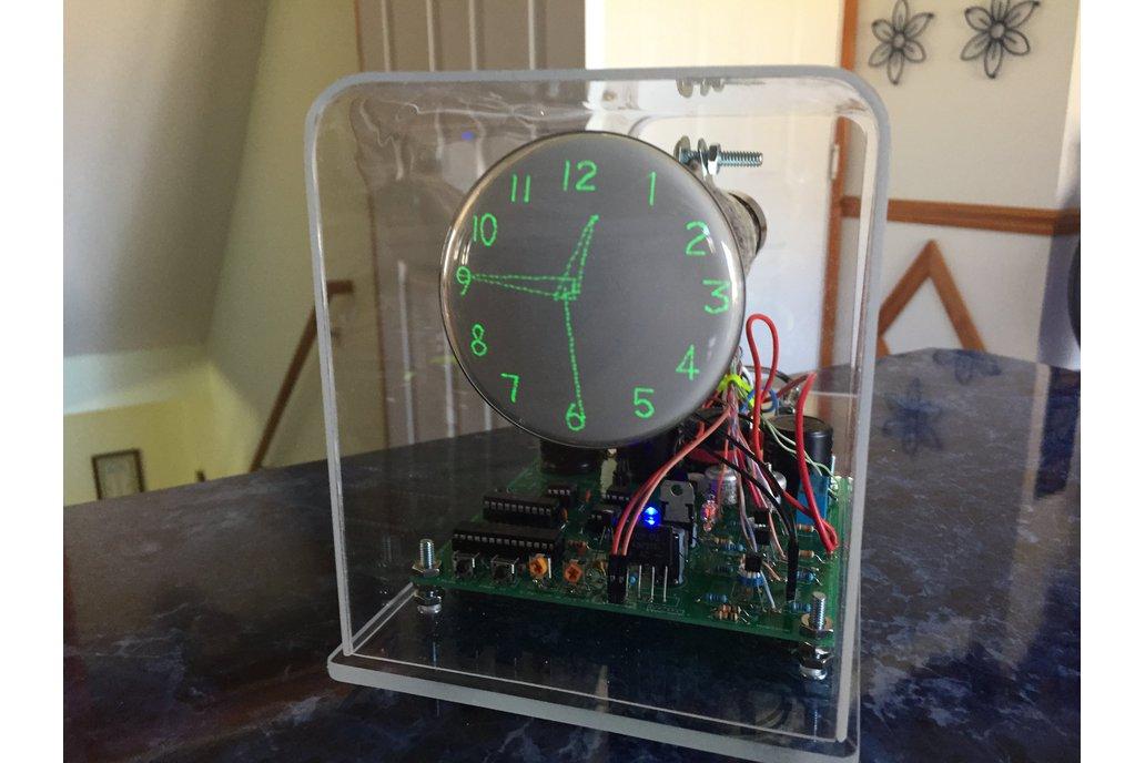 """Oscilloscope Clock 3"""" Cathode Ray Tube 3GP1 1"""