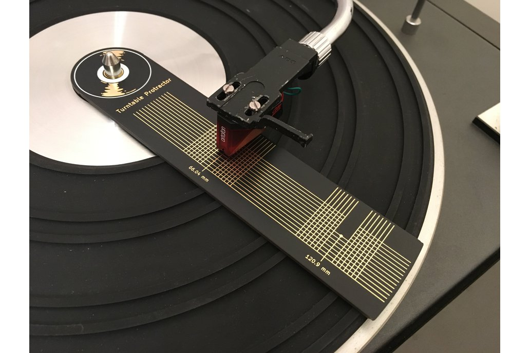 Turntable Protractor - Cartridge Stylus Alignment 1
