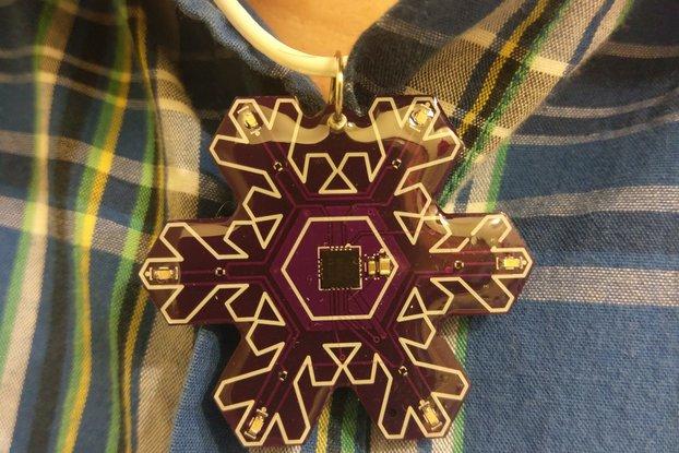 Electronic Snowflake Pendant