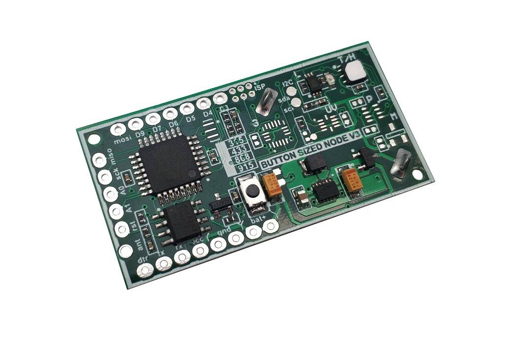 Button Sized LoRa RFM95/RFM69 Wireless Node Ver 3 1