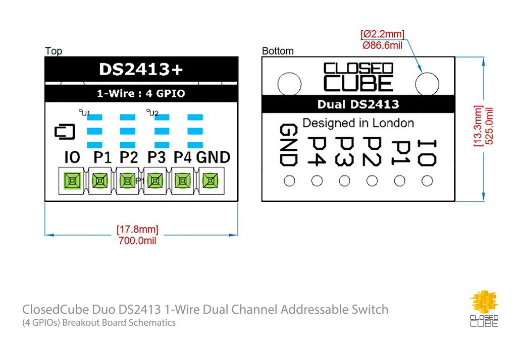 Duo DS2413 1-Wire Dual Channel Addressable Switch 3