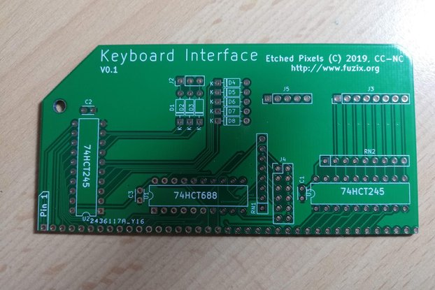 ZX81 Keyboard Interface for RC2014™ PCB only