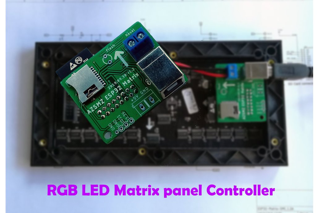 ESP32 RGB LED(HUB 75 type) Matrix panel Controller 1