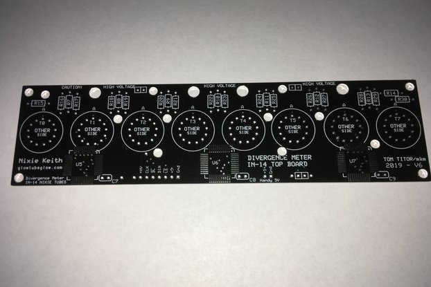 Nixie Divergence Meter 2 BOARDS ONLY - PATCHED