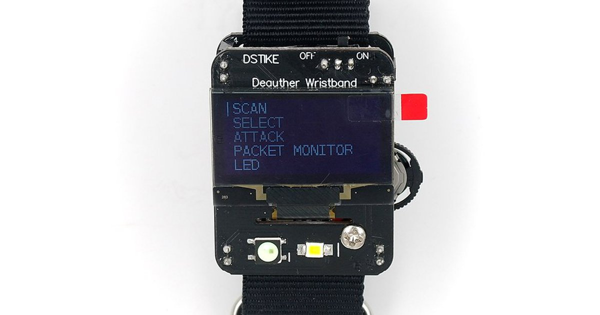 DSTIKE Deauther Wristband by Travis Lin on Tindie