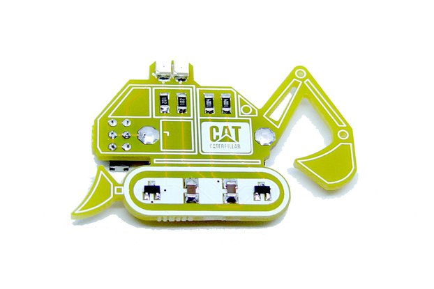 Bulldozer - LED learn to solder kit